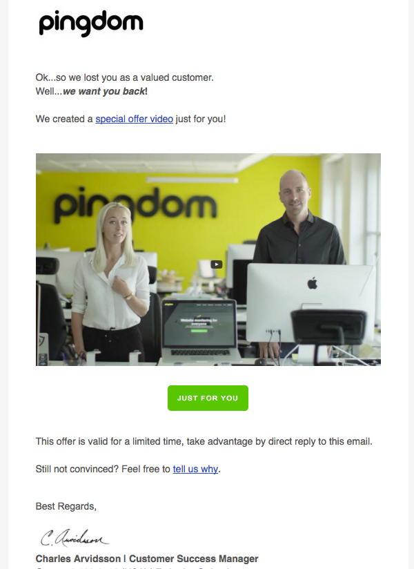 Pingdom Email